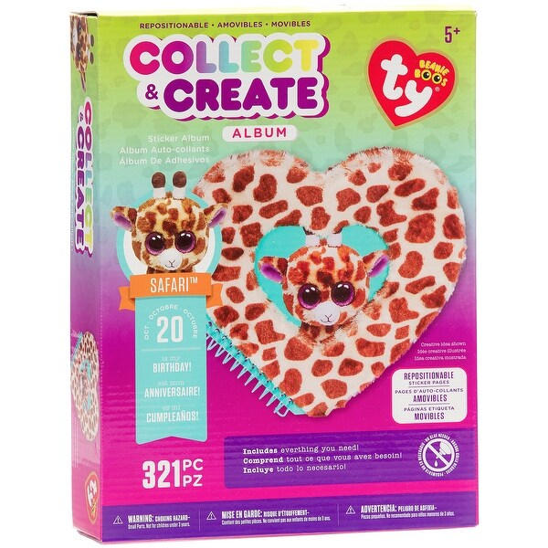 4a9bb374e28 Shop Beanie Boos Collect   Create Album-Safari The Giraffe - Free Shipping  On Orders Over  45 - Overstock - 20013006