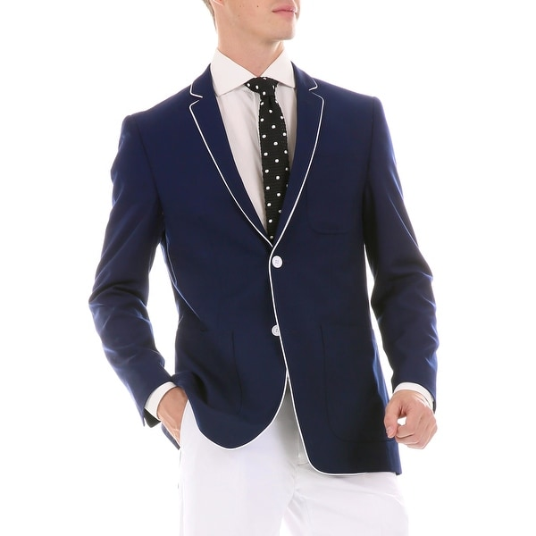 Mens Porter Slim Fit Two Buttons Blazer. Opens flyout.