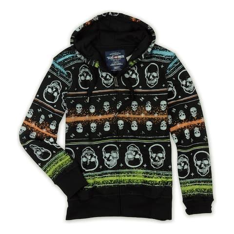 Ecko Unltd. Mens Neon Group Skull Print Hoodie Sweatshirt