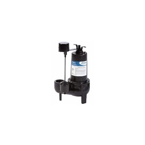 PROFLO PF93511 1/2 HP Cast Iron Sewage Pump with Vertical Switch -