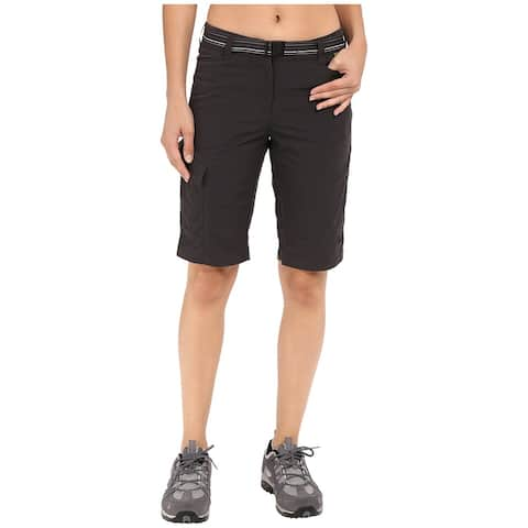 Jack Wolfskin Black Women's Size Small S Belted Cargo Shorts