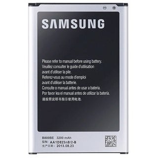 Black Samsung Battery Designed for Specific Use with Samsung Note 3 Smartphones