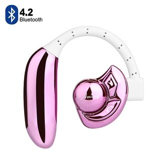 Bluetooth Wireless Headset Stereo Headphone HD Wireless Bluetooth Headset - 2 Long Last Lasting Batteries,color Pink