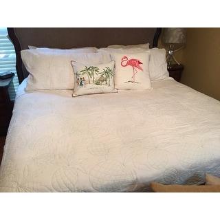 Nine Palms White Antigua Quilt Set