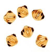 Preciosa Czech Crystal 4mm Bicone Beads 'Topaz' (50)