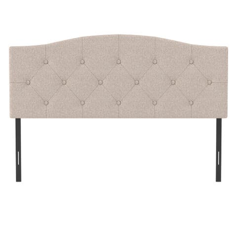 Living Essentials by Hillsdale Provence Upholstered Arch Adjustable Tufted Headboard