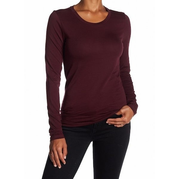 414688b9461505 Shop Susina NEW Burgundy Red Womens Size Medium M Long Sleeve Scoop Neck  Knit Top 475 - Free Shipping On Orders Over $45 - Overstock - 20758023