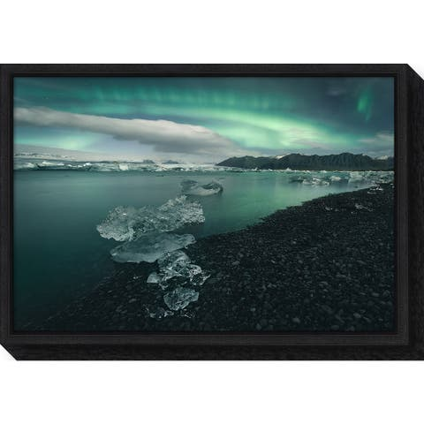 Canvas Art Framed 'Jokulsarlon Iceland' by Antonio Carrillo Lopez