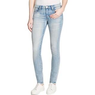 Blank NYC Womens Skinny Jeans Denim Frayed Hem