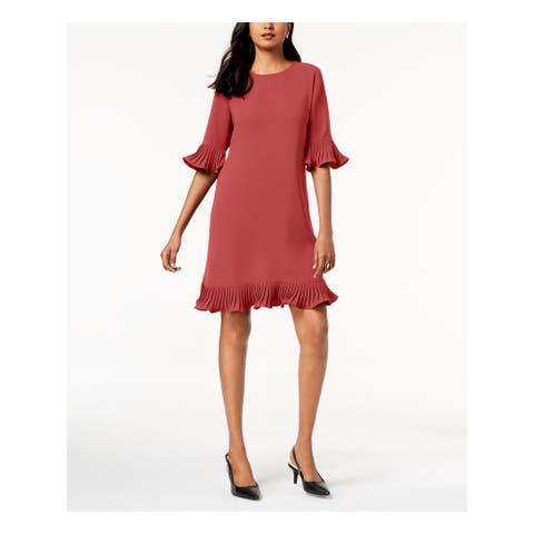 ALFANI Womens Red Bell Sleeve Above The Knee Shift Dress Size 6