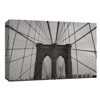 "PTM Images 9-148063  PTM Canvas Collection 8"" x 10"" - ""Brooklyn Bridge"" Giclee Brooklyn Bridge Art Print on Canvas"