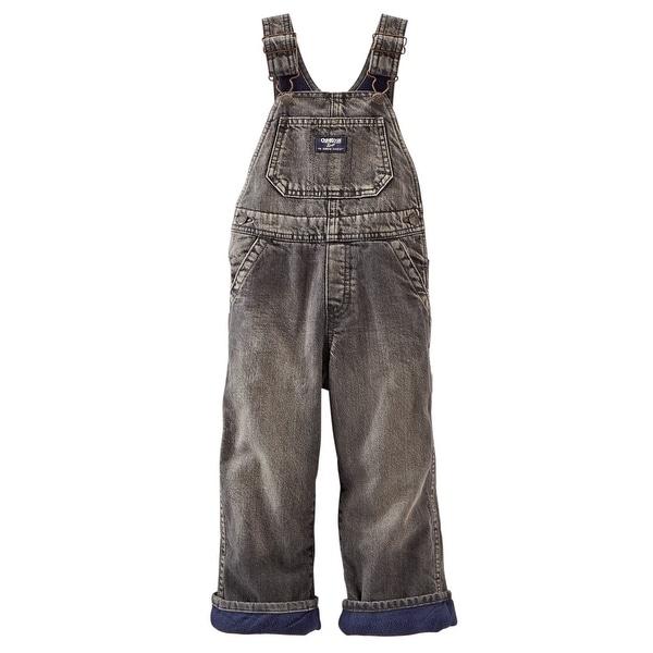 9257170a32ad0b Shop OshKosh B'gosh Baby Boys' Fleece-Lined Overalls (Black Denim) - Free  Shipping On Orders Over $45 - Overstock - 18303939