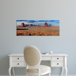 Easy Art Prints Panoramic Images's 'Rock formations on a landscape, Monument Valley, Utah and Arizona, USA' Canvas Art