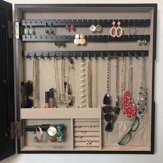 Hives & Honey Collage Frame with Jewelry Storage, Black