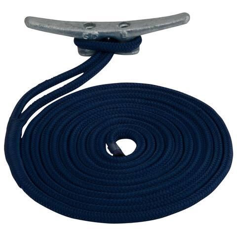 Sea-dog line sea dog double braided nylon dock line 1/2 x 35' navy 302112035nv-1
