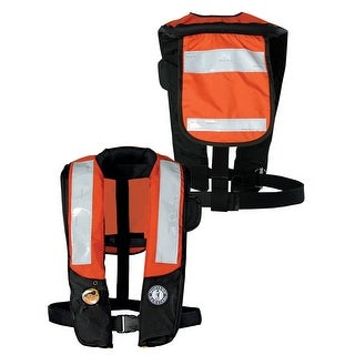 Mustang Survival Mustang Deluxe Auto Inflatable Pfd W Solas Tape Orange Black Md3183t2 Or Bk