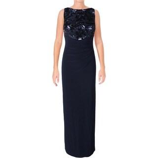 Lauren Ralph Lauren Womens Evening Dress Sequined High Waist - 6