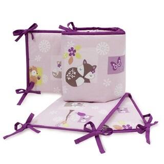 Bedtime Originals Purple Lavender Woods 4-Piece Crib Bumper