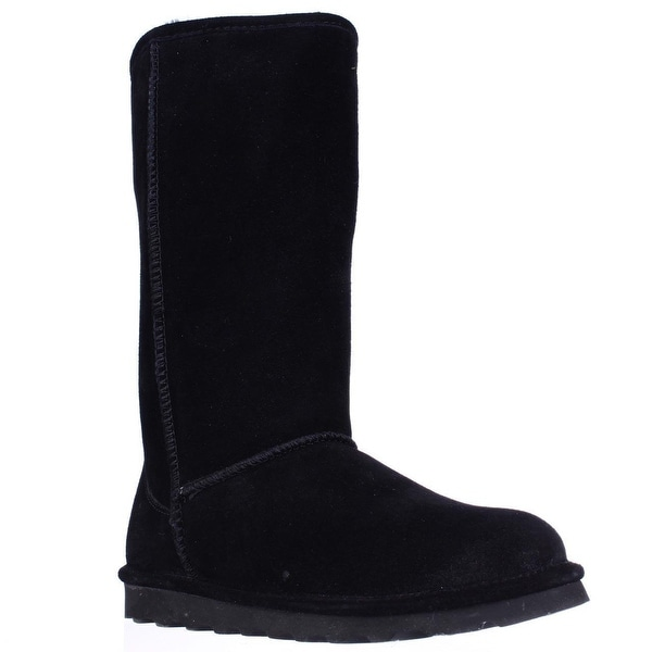 Bearpaw Elle Tall Shearling Lined Water Resistant Winter Boots, Black