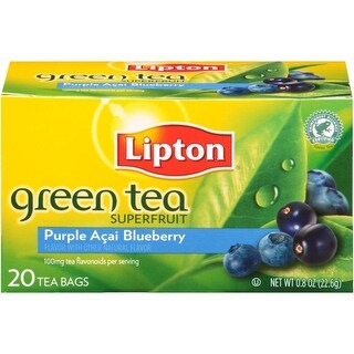 Lipton Superfruit Purple Acai Blueberry Green Tea Bags 20 ct   (Pack of 6)