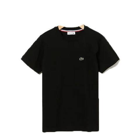 Lacoste Black Crew Neck Cotton Jersey Trendy T-shirt Big Boys 12
