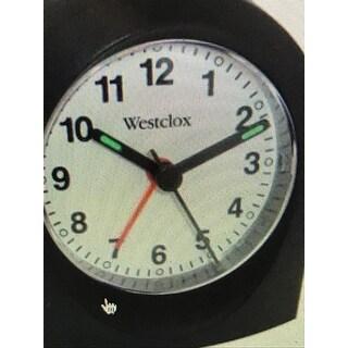 Westclox Black Bedside or Travel Analog Alarm Clock