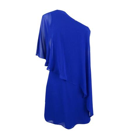 Vince Camuto Women's Ruffled One-Shoulder Shift Dress