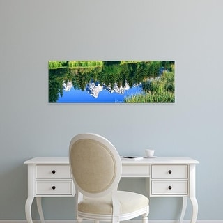 Easy Art Prints Panoramic Images's 'Teton Range reflected, Moose Ponds, Grand Teton National Park, Wyoming' Canvas Art