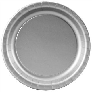 """Silver Paper Plates - 7"""""""