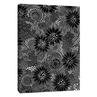 """PTM Images 9-105537  PTM Canvas Collection 10"""" x 8"""" - """"Monochrome Spots 2"""" Giclee Abstract Art Print on Canvas"""