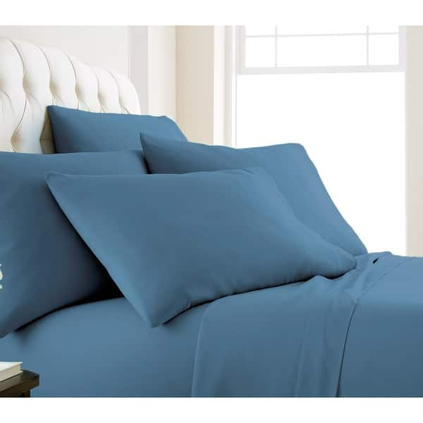 6 PIECE SHEET SET BED SHEETS IN 5 COLORS WD MANY SIZE SUPER SOFT DEEP POCKET