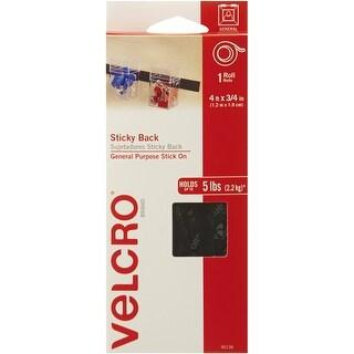 """Velcro(R) Brand Sticky Back Tape .75""""X4'-Black"""