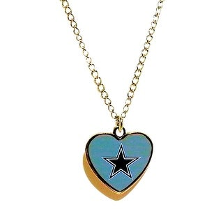 Cleanlapsports Dallas Cowboys Heart Shaped Pendant Necklace