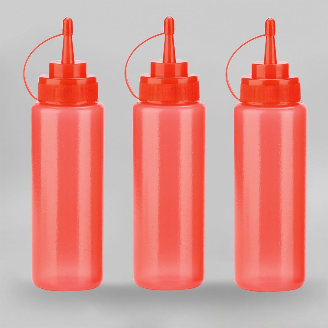 24oz - 700ml 3 Hole Sauce Squeeze Condiment Bottles Dispenser Kitchen /&