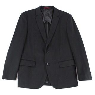 Alfani NEW Solid Black Mens Size Medium M Seamed Two Button Blazer
