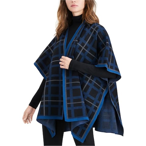 Anne Klein Womens Cape Cardigan Sweater, Black, Large