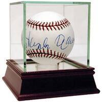 Hank Aaron signed Official Major League Baseball Steiner Hologram w Glass Case
