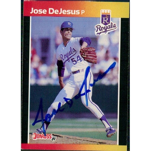 Signed Dejesus Jose Kansas City Royals 1989 Donruss Baseball Card Autographed