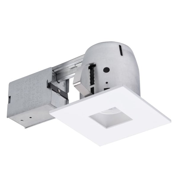 Globe Electric 90652 1 Light Recessed Lighting Kit Includes Trim, Housing / Can, Patented Clip System and Electrical Box