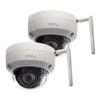Q-See 2 Pack Add-On Wi-Fi 3MP Dome Security Cameras