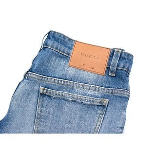 Gucci Women's Washed Stretch Denim Flare Pants - 27