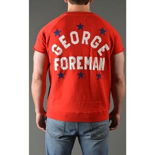 Roots of Fight George Foreman Cut-Off Sweatshirt - Red
