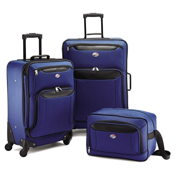 Shop american tourister brookfield 3 piece set navy black free shipping today - American tourister office bags ...