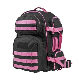 NcSTAR Vism By Ncstar Tactical Back Pack- Black with Pink Trim
