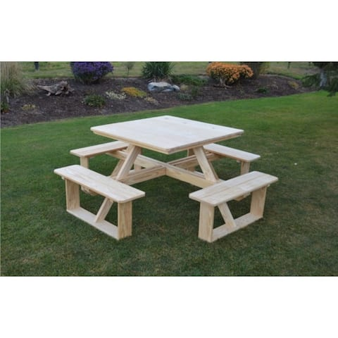 """Pressure Treated Pine 44"""" Square Walk-In Table"""