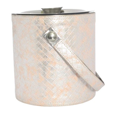 Sol Living Ice Bucket Double Wall Stainless Steel with Lid and Tongs