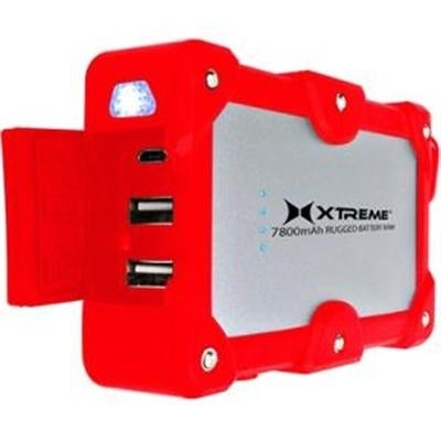 Xtreme Cables Xbb8-0109-Red 7800Mah Dual Port Weatherproof Power Bank