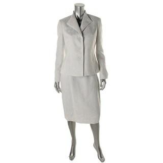 Le Suit Womens Jacquard 2PC Skirt Suit