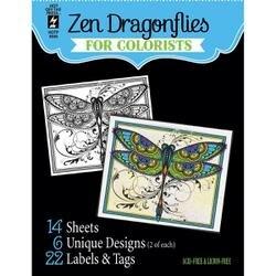 "Zen Dragonflies - Hot Off The Press Coloring Book 5""X6"""