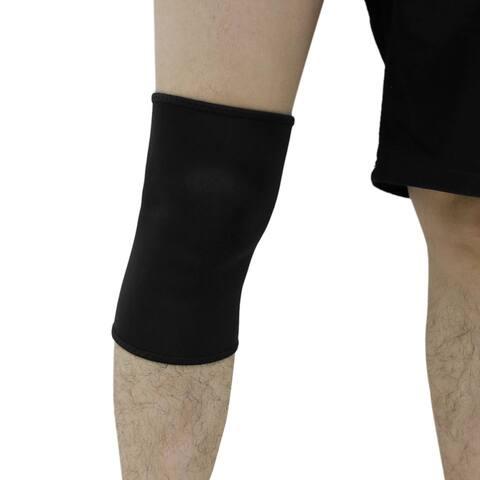 Unique Bargains Black Neoprene Basketball Knee Protector Comfort Brace Support Meniscus Guard